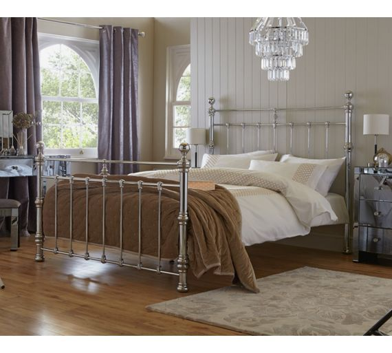 Buy Heart of House Conan Kingsize Bed Frame - Chrome at Argos.co.uk - Your Online Shop for Bed frames, Beds, Bedroom furniture, Home and garden.