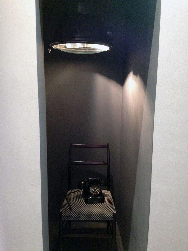 Telephone handset under atmospheric light at #BaxterCinema