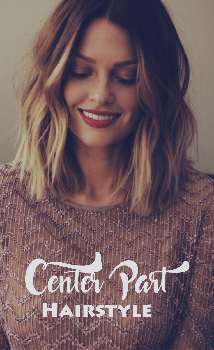 Center Part Hairstyle For Every Occasion From Casual To
