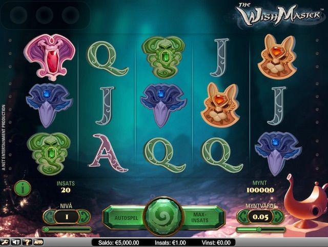 Spela The Wishmaster slot med free spins hos Unibet