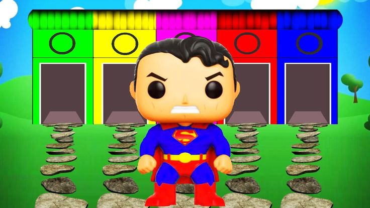 Learn Colors Superhero Superman Cartoon Videos with Color for Kids and N...