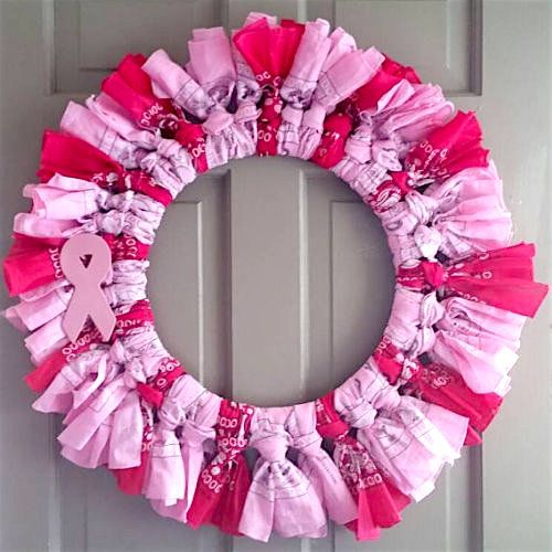 How To Make A T Cancer Awareness Wreath Wreaths We Love