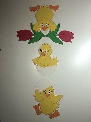 fensterbild tonkarton k kentrio ostern fr hling fensterdeko dekoration fensterbilder basteln
