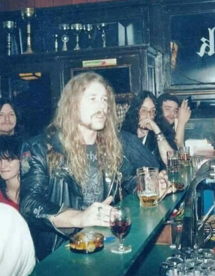 James Hetfield in a bar