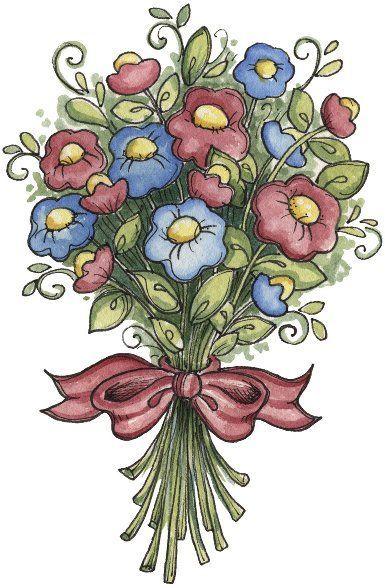 Ramo de flores | Clip art, Flower art, Art