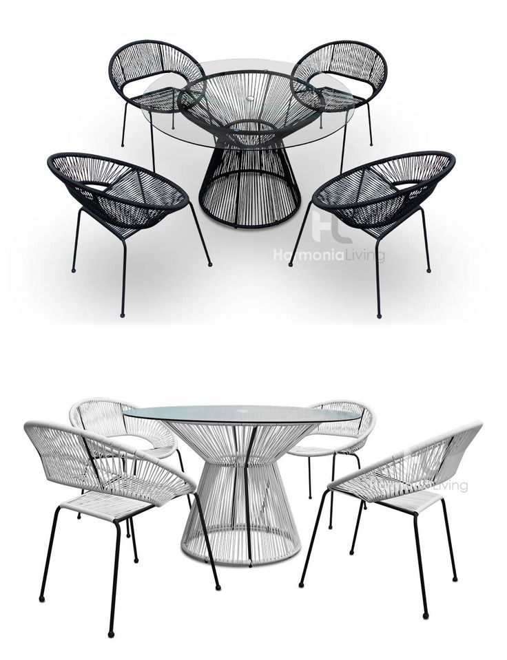 The Acapulco Dining Set includes 4 stackable dining chairs and a dining table for comfortable outdoor dining and relaxation.