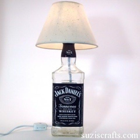 How To Make A Liquor Bottle Lamp Shelterness | Shelterness