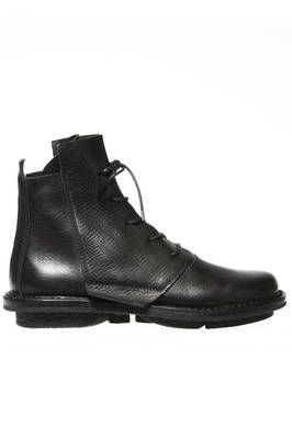 LUMBER ankle boot in soft cowhide leather and classic rounded sole in non-slipper rubber - TRIPPEN