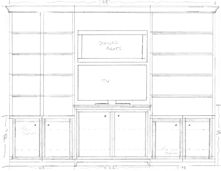 Line Art Vanities : Best misc drawings elevations for custom cabinets