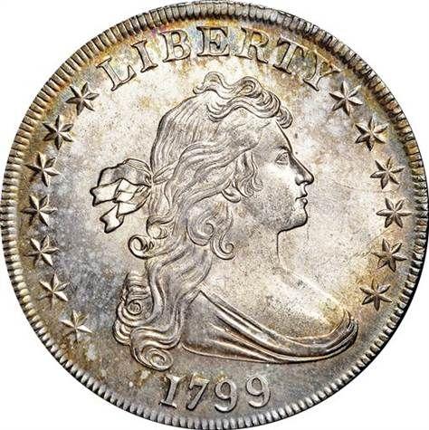 Prístino dólar de plata 1799 que se vendió por $ 822.500 en un día 2 Nueva York