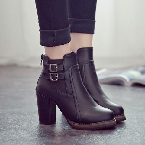 8c704e06d High Heel Ankle Martin Boots RI | accessories in 2019 | Chunky heel ...