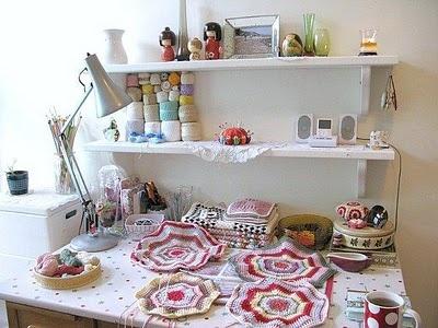 crochet workspace