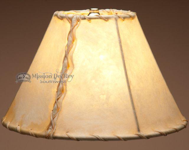 "Southwestern Rawhide Lamp Shade 12"" - Mission Del Rey Southwest"