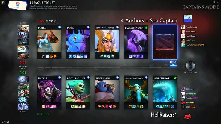 Dota2 Live Stream -4 Anchors + Sea Vs HellRaisers' [i league Ticket]