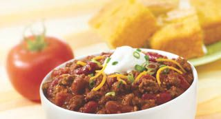 McCormick® Chili: McCormick® Chili Seasoning Mix is a zesty blend of authentic seasonings, including chili peppers, that makes preparing delicious chili a snap.