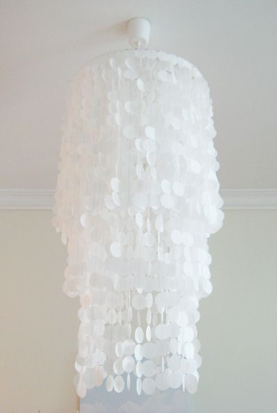 Best Capiz Shells Images On Pinterest Chandeliers - Beautiful diy white flowers chandelier