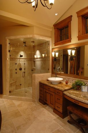 """""""View this Great Craftsman Master Bathroom with Complex granite counters & Flat panel cabinets by CD Construction. Discover & browse thousands of other home design ideas on Zillow Digs."""""""