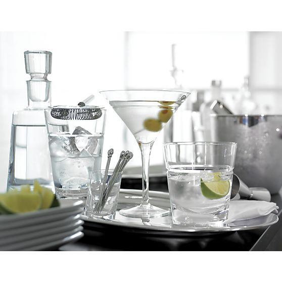 Callaway Highball, Double and Martini in Top Drinkware, Bar Tools | Crate and Barrel