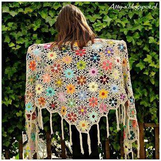 Tina's handicraft : triangular  shawl