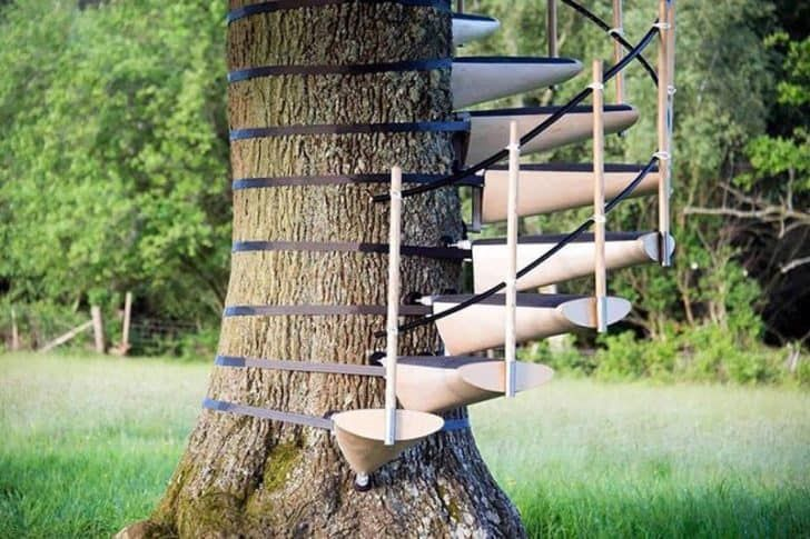 How To Build A Treehouse In The Backyard Building A Treehouse Tree House Tree House Diy