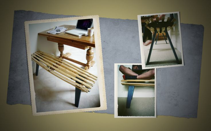 pallet furniture project - slatted timber bench