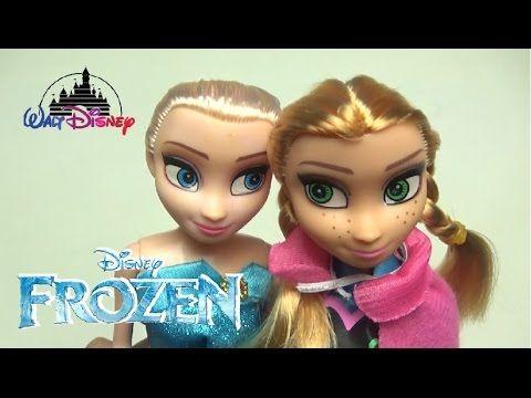Frozen Dolls Elsa And Anna - Frozen Toys Unboxing Disney Cartoon Caracte...