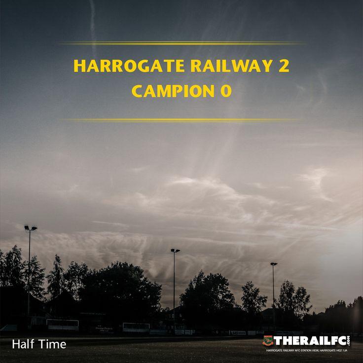 HT: Harrogate Railway 2-0 Campion    @therailfc @CampionAFC @Howell_rm @TomHarle96 #NCEL
