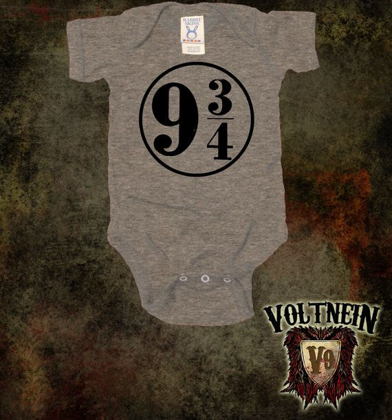 Platform 9 3/4 Quidditch Baby Onesie by VoltNein on Etsy, $11.50