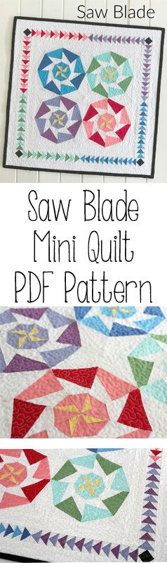 Threadbare Creations- Saw Blade Mini Quilt PDF Pattern