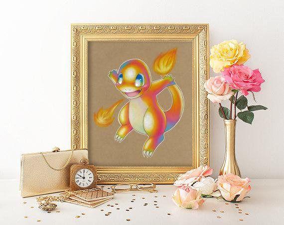 Charmander Art Signed Print Pokemon Art Pokemon Geek