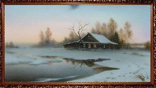 Домик на окраине леса - Зимний пейзаж <- Картины маслом <- Картины - Каталог | Универсальный интернет-магазин подарков и сувениров