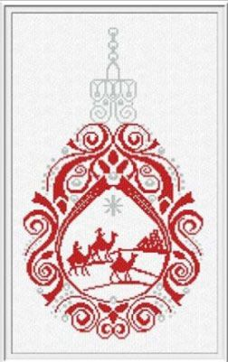 Three Kings Ornaments by Alessandra Adelaide Needleworks - Cross Stitch Kits & Patterns
