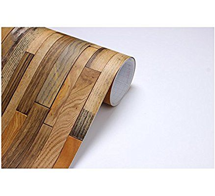 Vintage Wood Panel Pattern Contact Paper Selfadhesive