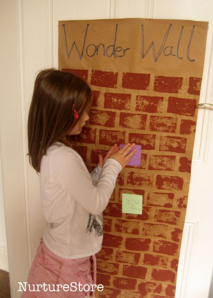 Develop a thinking child with this Wonder Wall technique