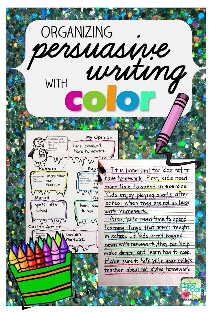 persuasive writing homework activities