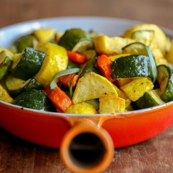 Roasted Zucchini, Yellow Squash, and Carrots -- in your Air Fryer!