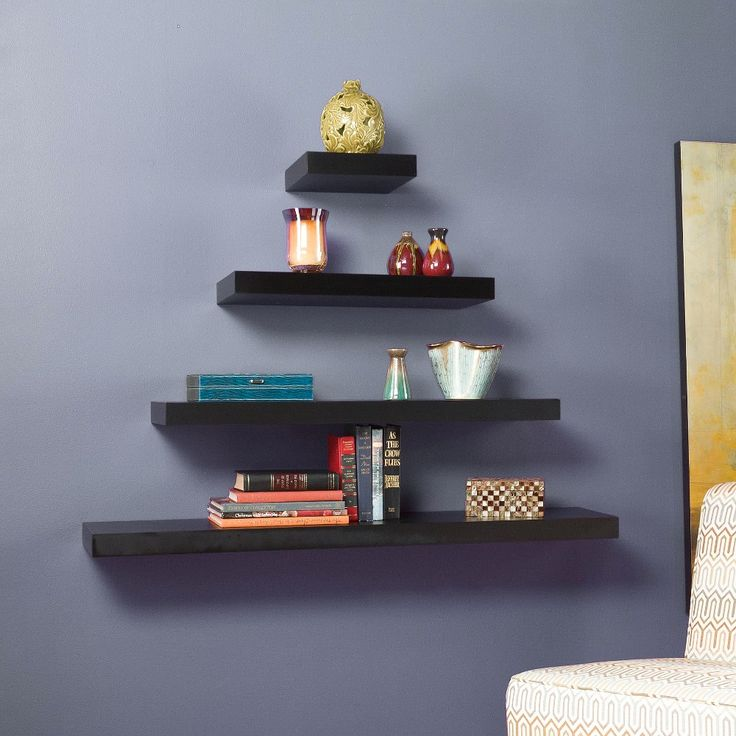 Chicago Floating Shelf - Black 36