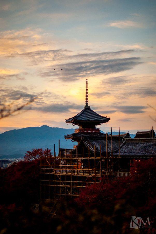Kiyomizu Temple undergo some renovations, Kyoto, Japan 清水寺