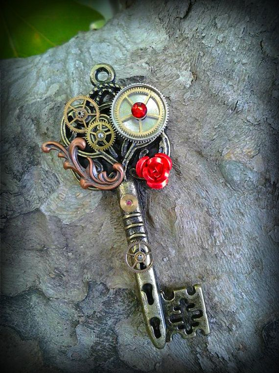 Steampunk Romance Fantasy Key by ArtbyStarlaMoore on Etsy, $17.00