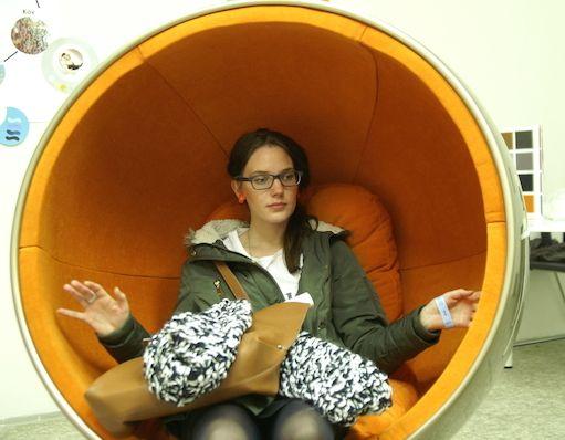 Czech version of Ball chair, Prague Design Week 2014