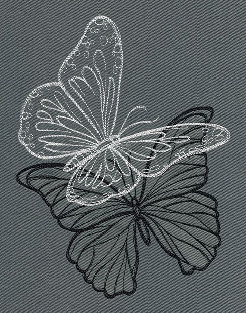 Flight & Dark Butterflies - Duo | Urban Threads: Unique and Awesome Embroidery Designs