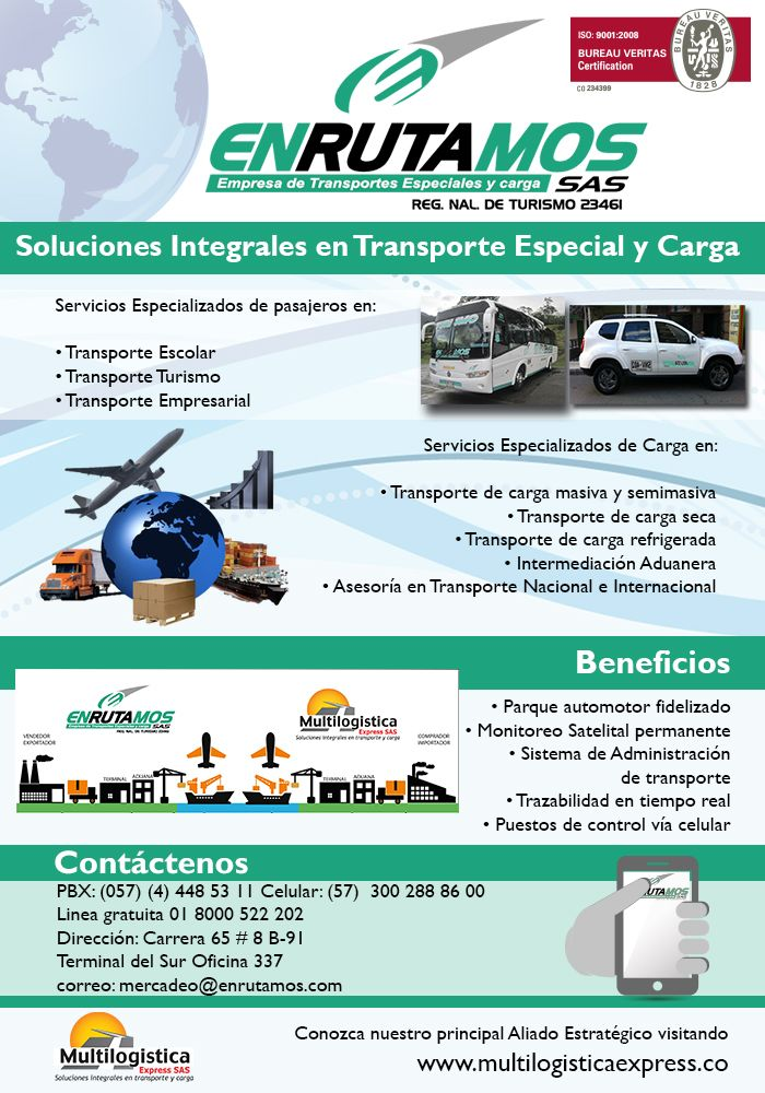 SOLUCIONES INTEGRALES EN TRANSPORTE, TURISMO Y CARGA.