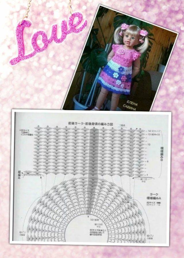 Crochet Dress Free Diagram Crochet Dress For Girls Free