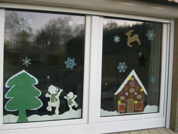 Kids Paper Window Decoration Gingerbread House Winter