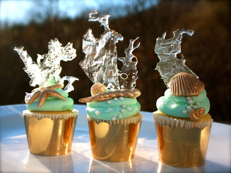❥ Under the Sea cupcakes~ way cool