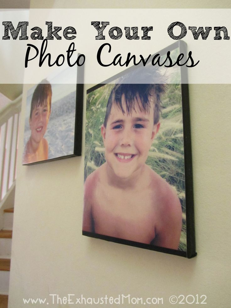 Want photo canvases for your home, but don't want to pay too much? Here's a tutorial for Make Your Own Photo Canvases.