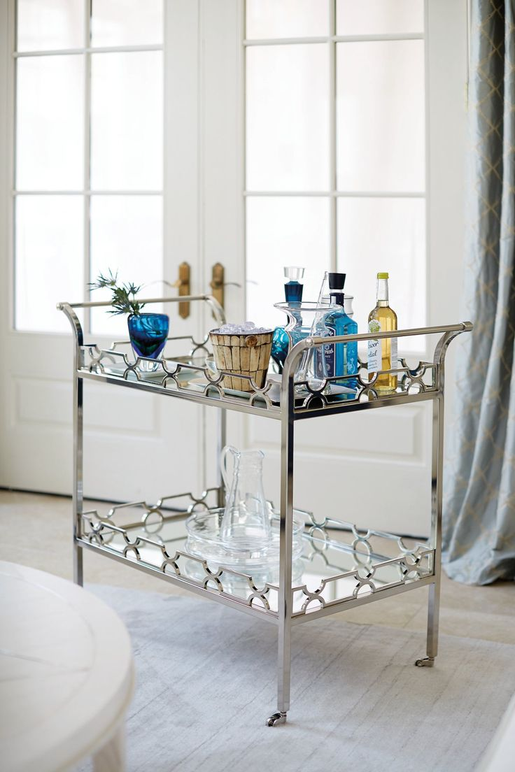 Bernhardt Furniture Company. Bar Cart Composure.  does it come in brass???