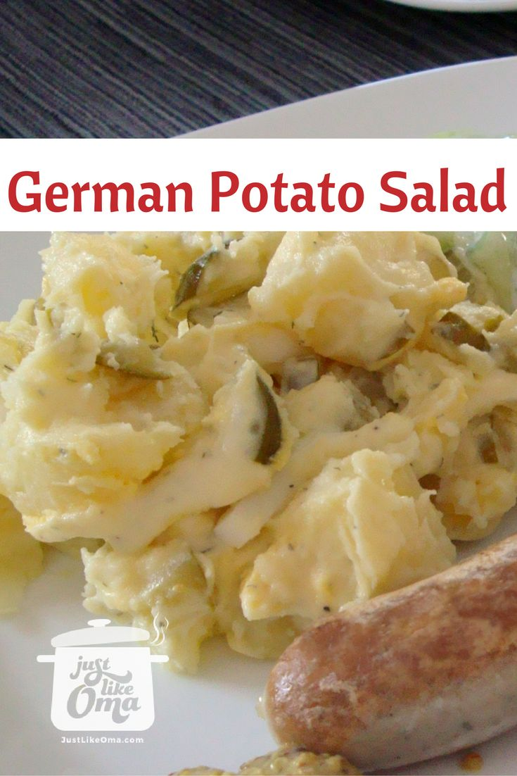 Northern German Potato Salad -- a really, really super easy recipe from start to finish within 30 minutes! http://www.quick-german-recipes.com/easy-potato-salad-recipe.html