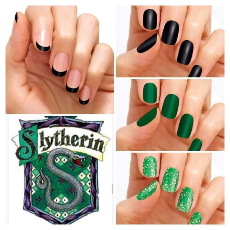 Color Street Slytherin Green Color street nails, Harry