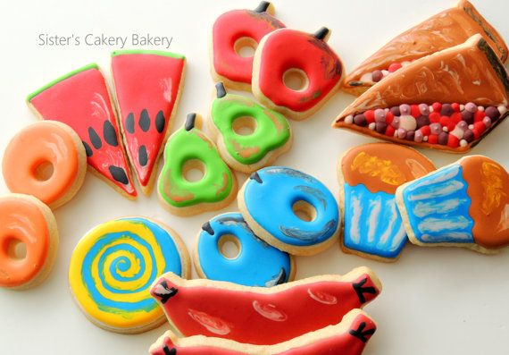 Very Hungry Caterpillar Food Cookies